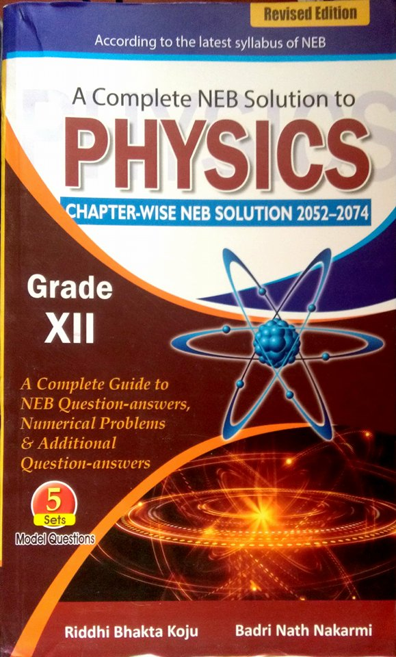 Kitabnepal | A Complete NEB Solution to Physics XII