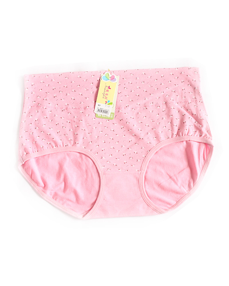 Light Pink Cotton High Waist Plus size Panty