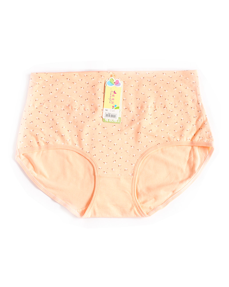 Salmon Peach Cotton High Waist Plus size Panty