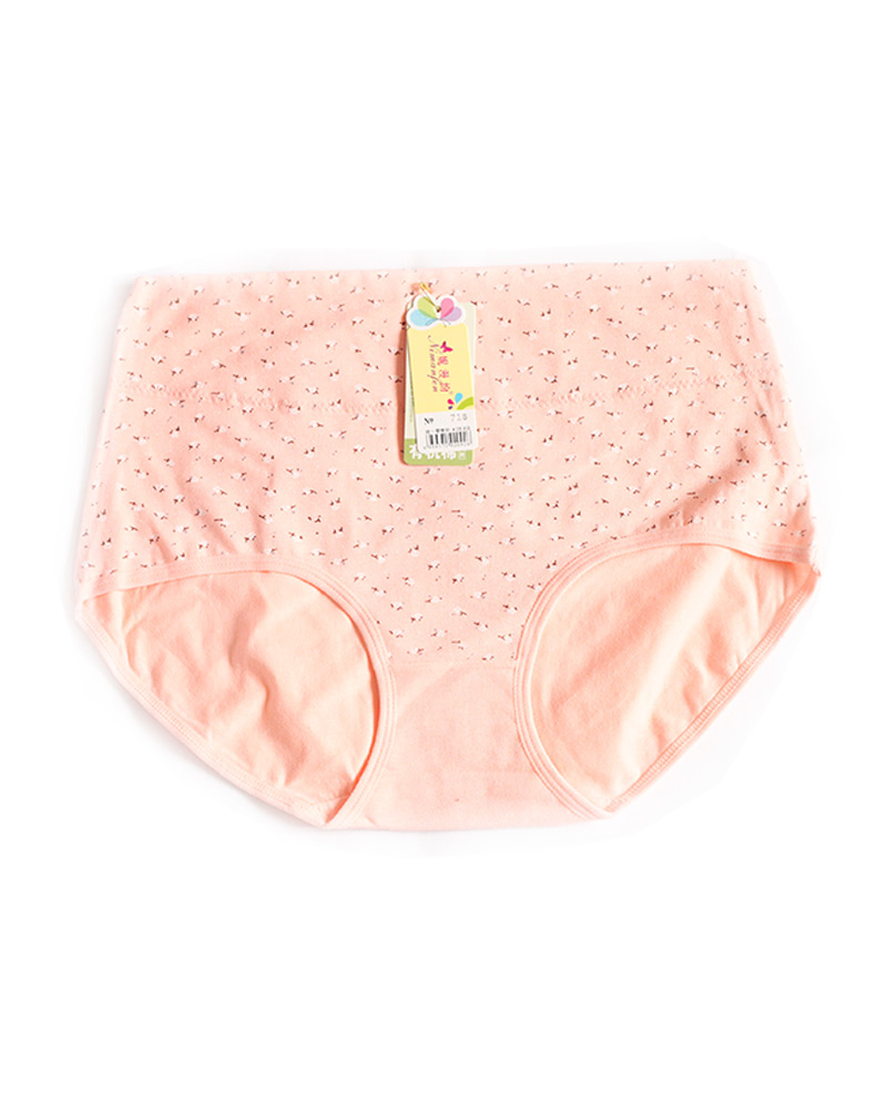 Peach Cotton High Waist Plus size Panty