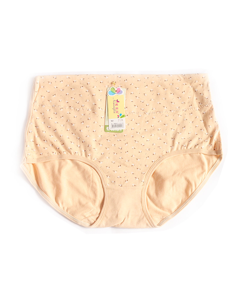 Wheat Floral High Waist Plus size Panty