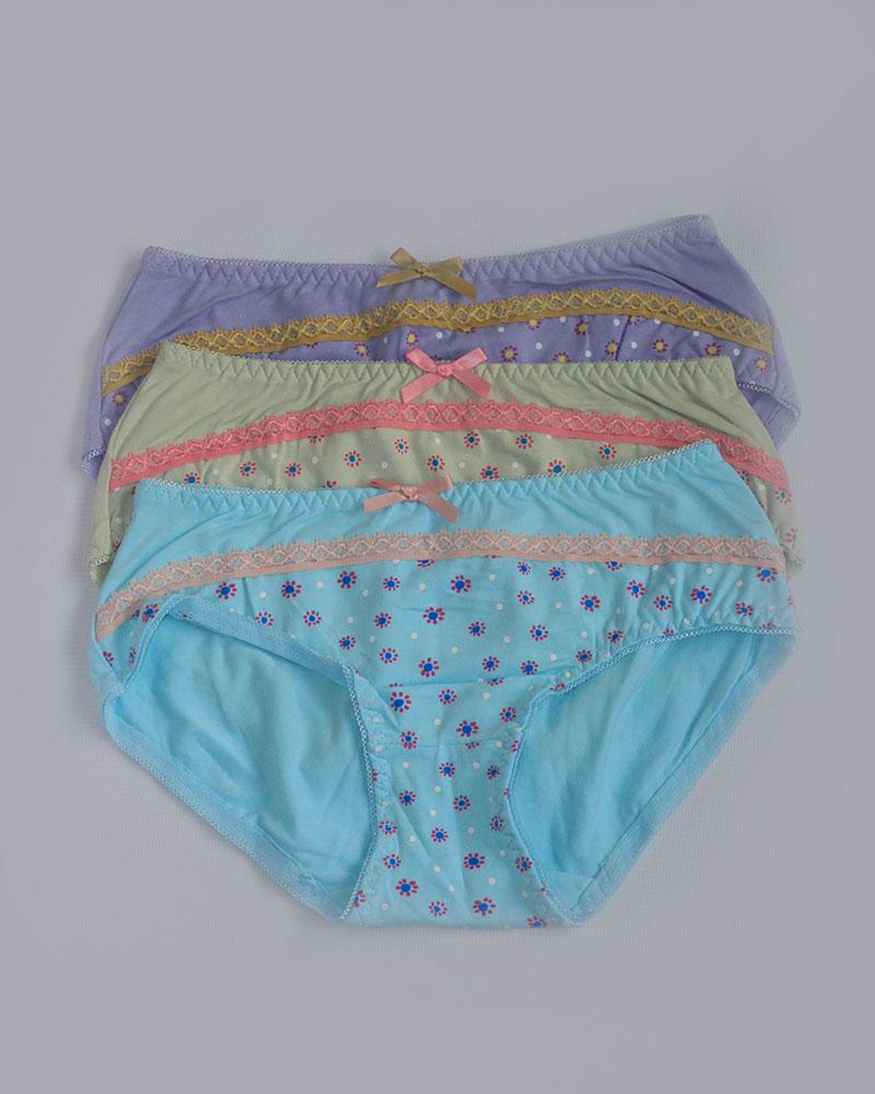 Pack of 3 Stylish Printed Panties Combo 1