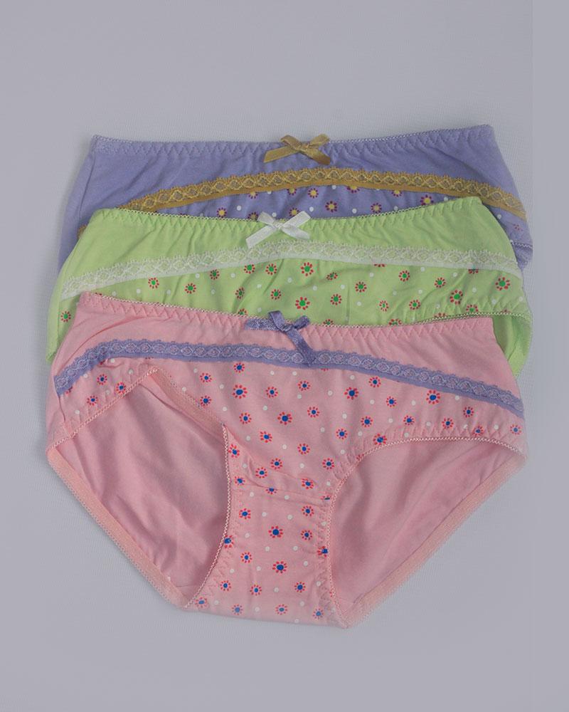 Pack of 3 Stylish Printed Panties Combo 3