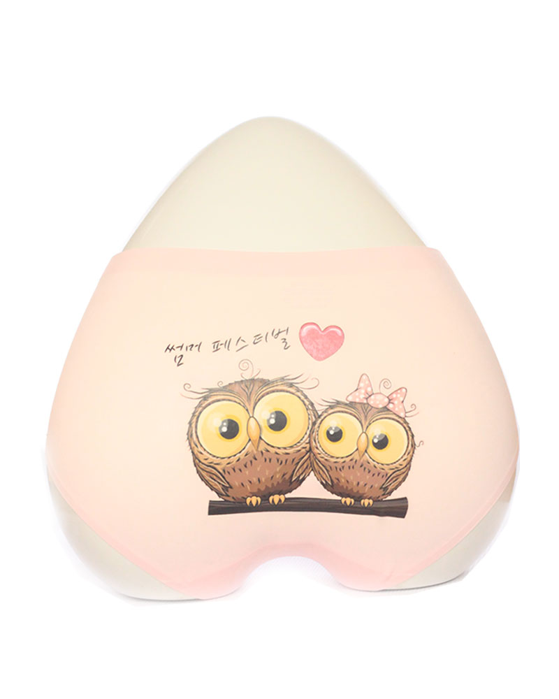 Light Pink Owl Print Seamless Panty