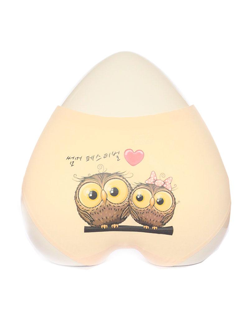 Nude Owl Print Seamless Panty