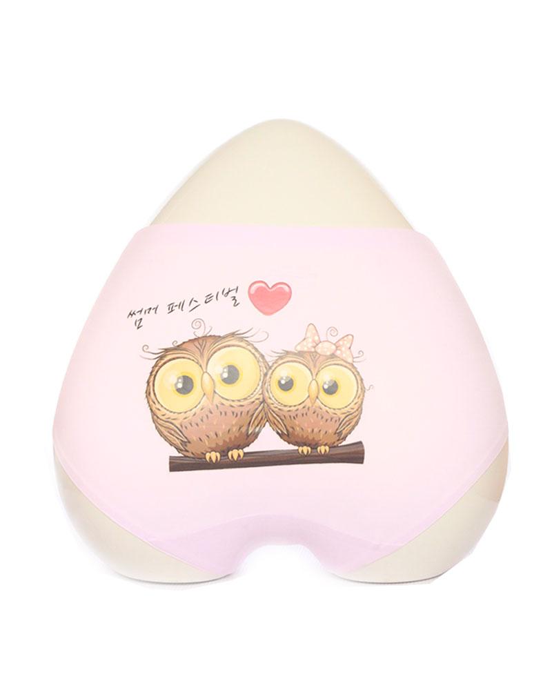 Blush Pink Owl Print Seamless Panty