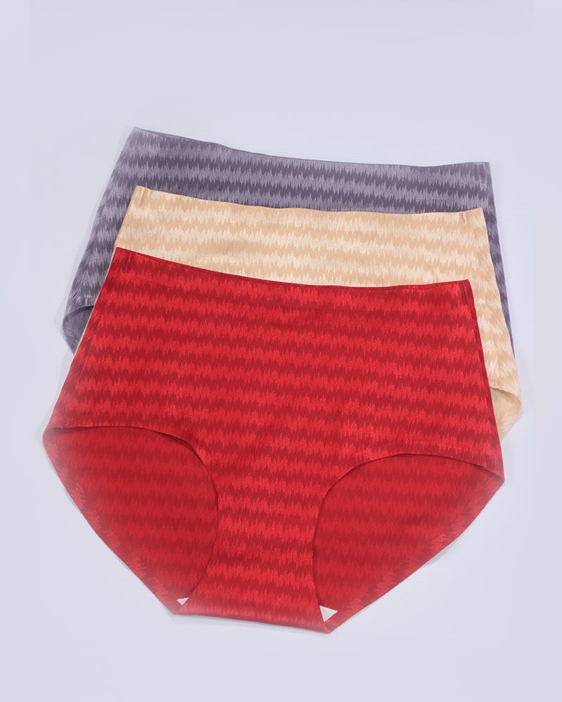 Pack of 3 Seamless HighWaist Silk Panties Combo 2