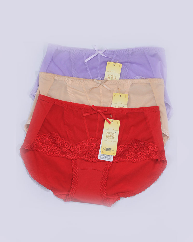 Pack of 3 Soft Lace Front Stylish Panties Combo 2