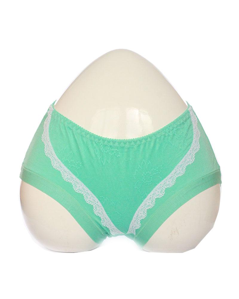Green Soft Lace Design Cotton Panty