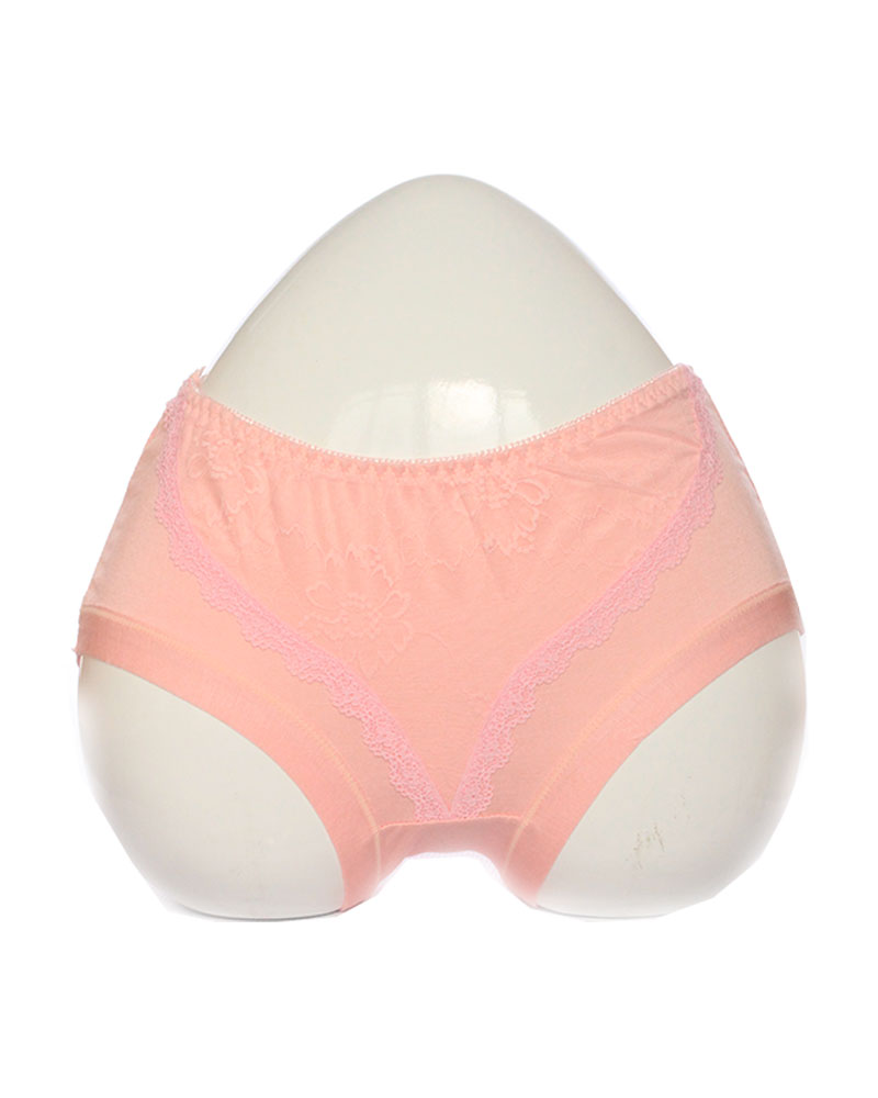 Light Pink Soft Lace Design Cotton Panty