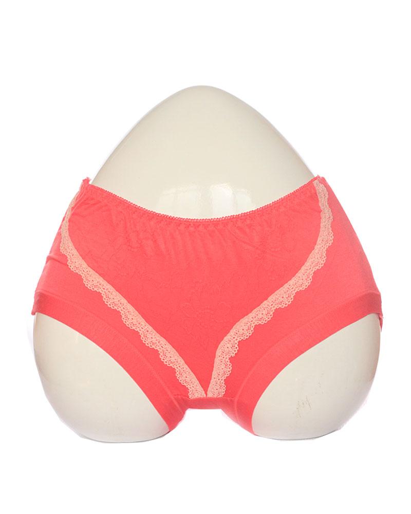 Pink Soft Lace Design Cotton Panty