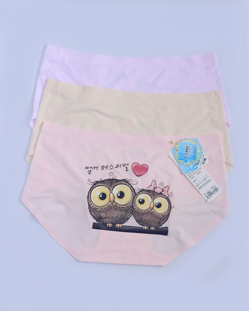 Pack of 3 Seamless Owl Printed Panties