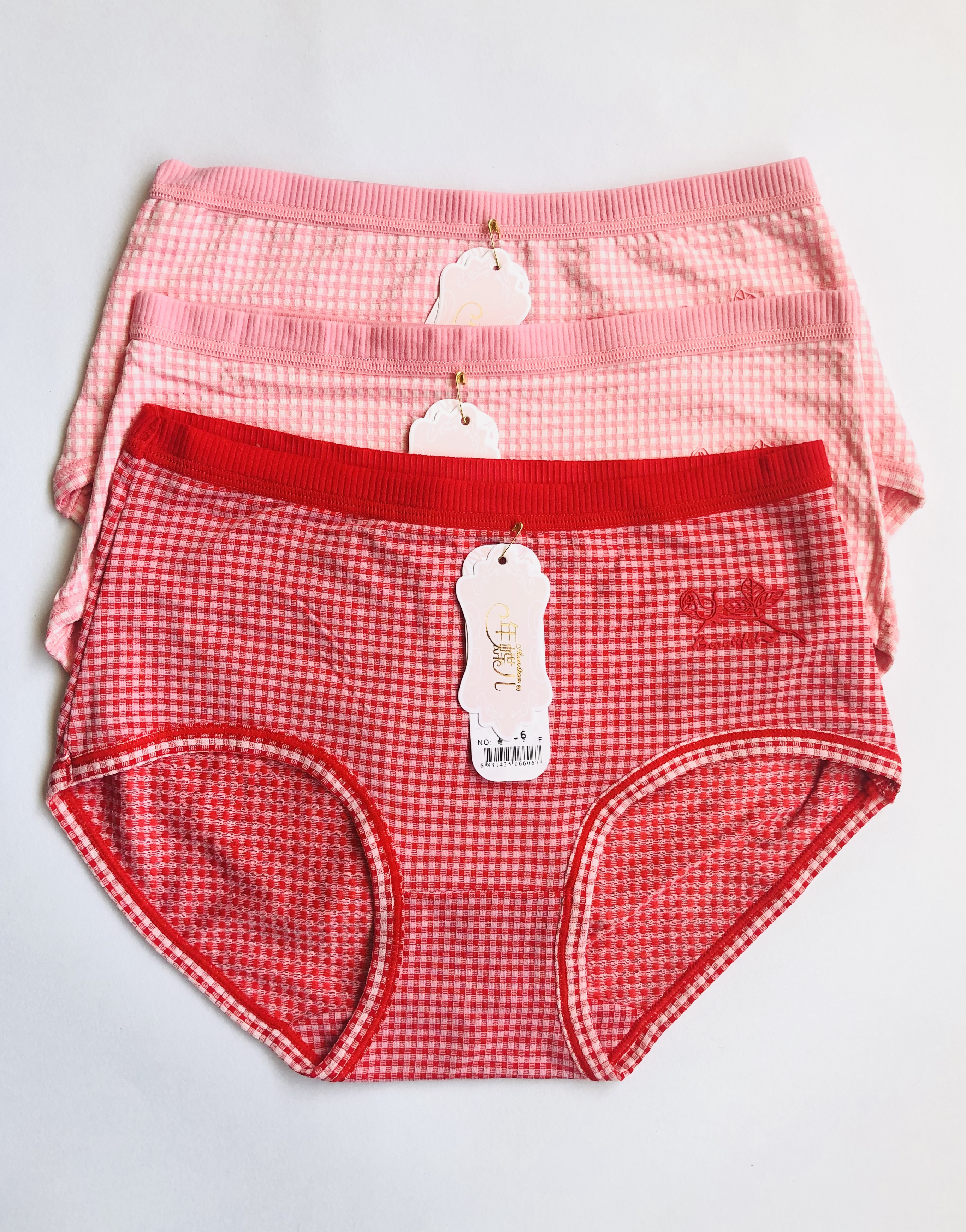 Pack Of 3 Cotton Check Panties  Combo 1