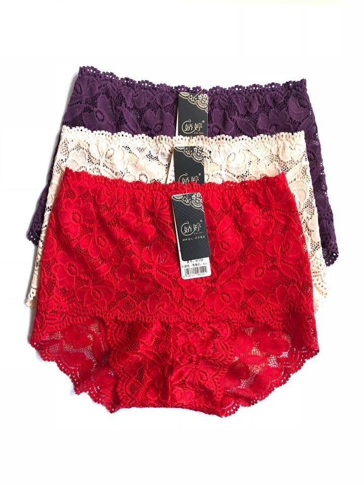 Pack Of 3 Floral High Waist Lace Panties Combo 2