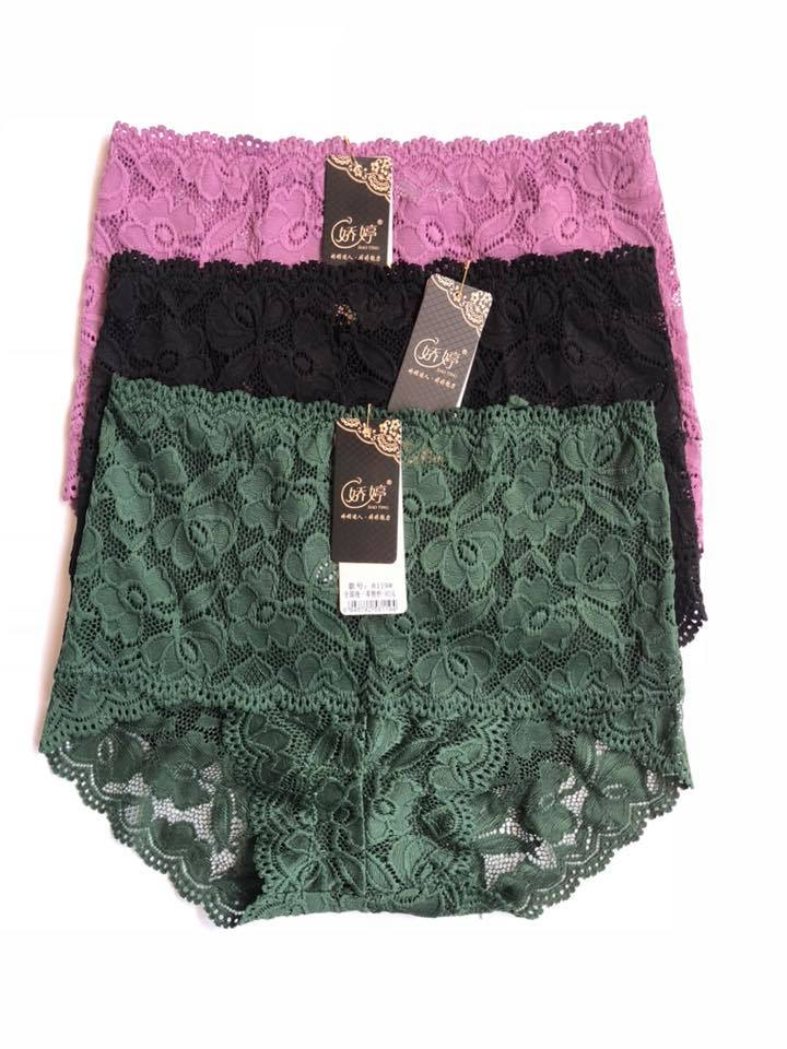 Pack Of 3 Floral High Waist Lace Panties Combo 3