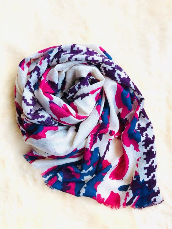 Blue & Pink Mix Scarf