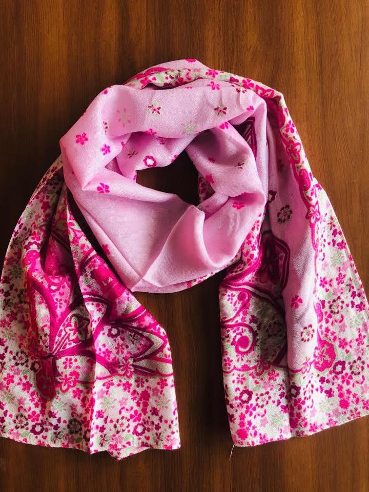 Pink Printed Scarf
