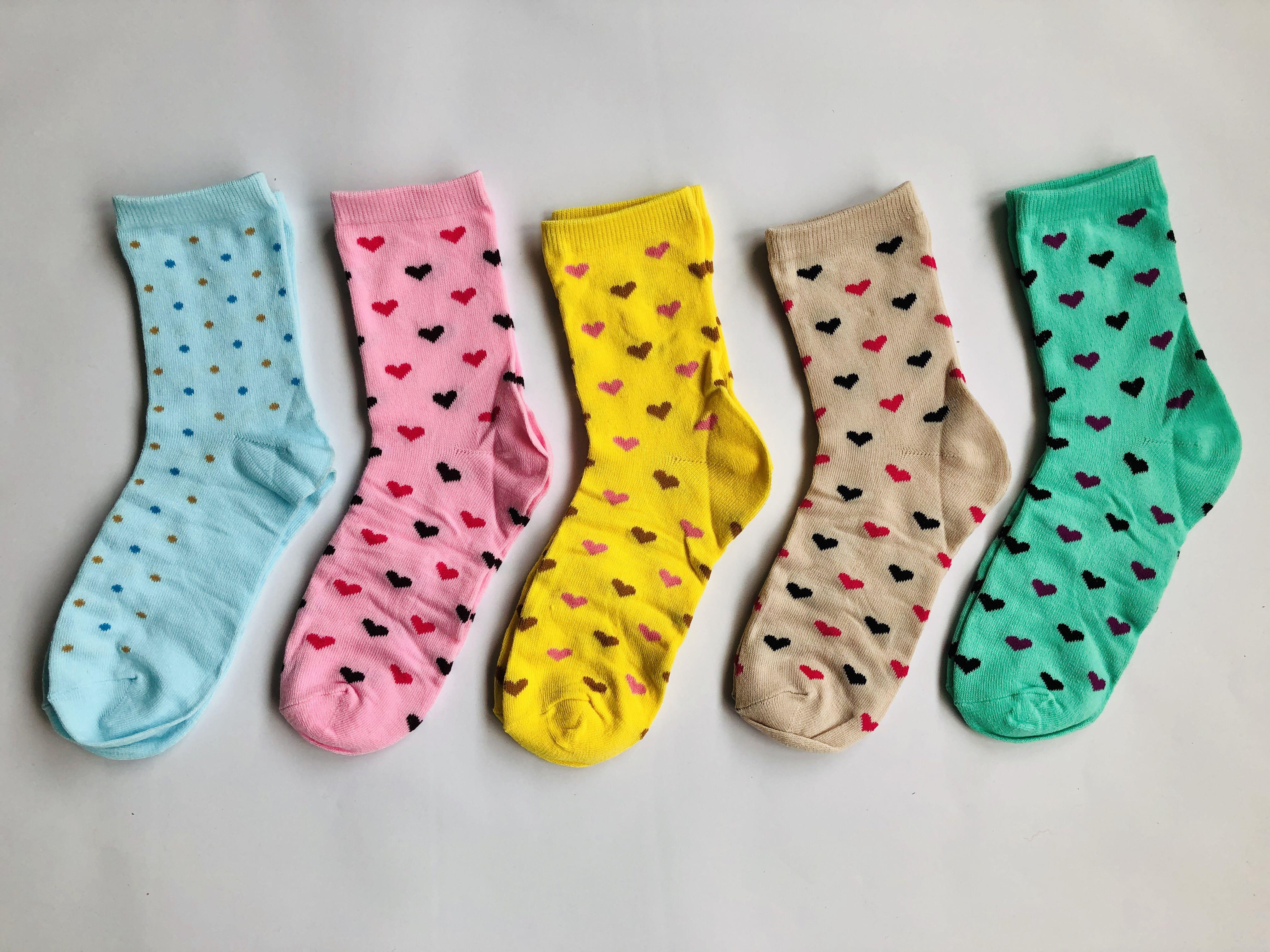 Heart Design Socks Combo