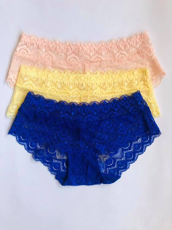 Pack Of 3 Lace Hipster Panties Combo 1