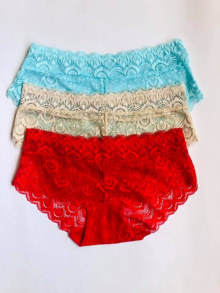 Pack Of 3 Lace Hipster Panties Combo 3