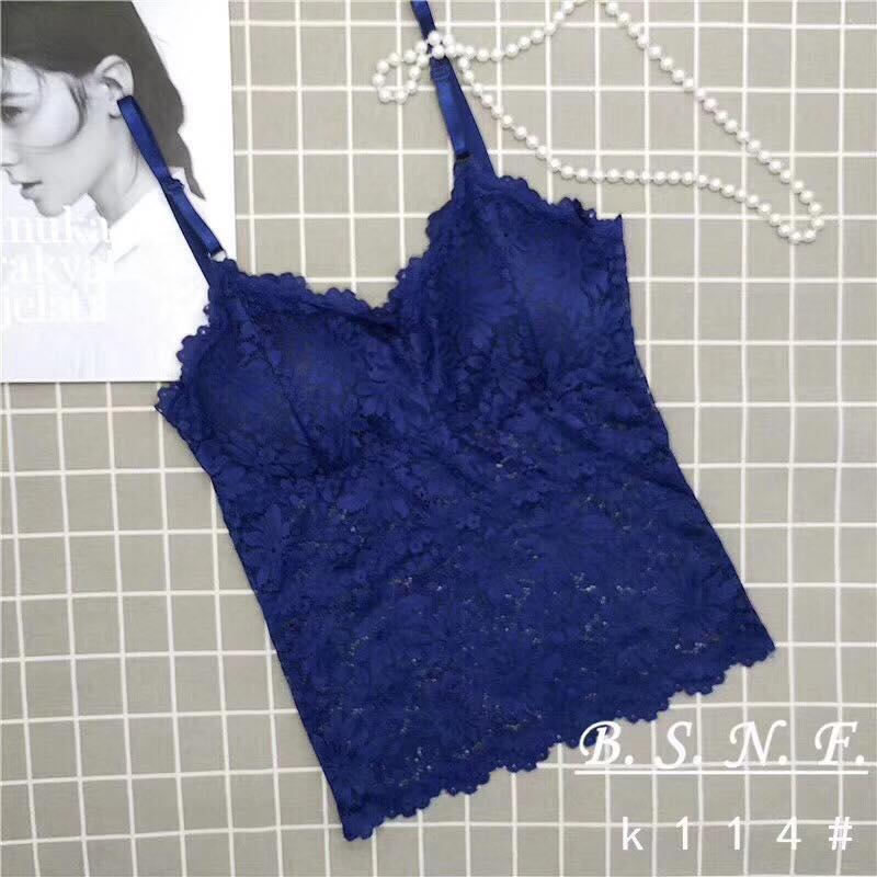 Blue Net Floral Print Camisole