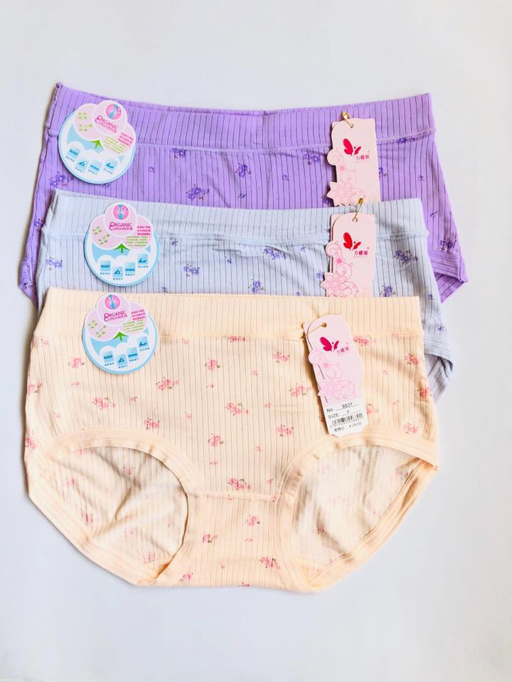 Pack of 3 Floral Soft Cotton Lining Panties Combo 1