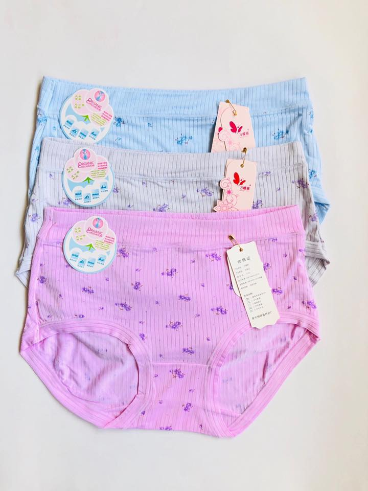 Pack of 3 Floral Soft Cotton Lining Panties Combo 2
