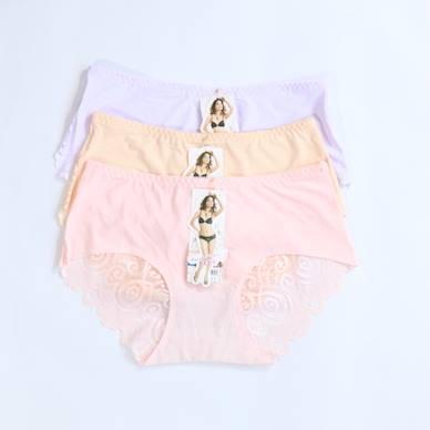 Pack Of 3 Back Net Seamless Panties Combo 2