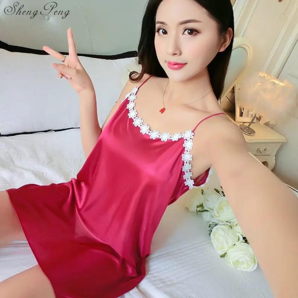 Magenta Silk One Piece Nightdress