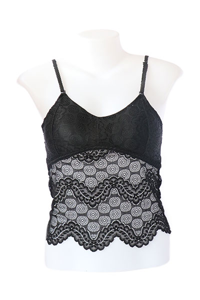 Padded Lace Bralette with Adjustable Straps
