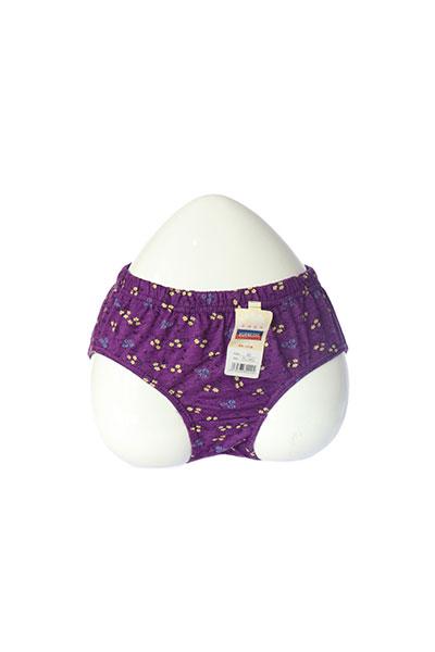 Purple Printed Cotton Panty
