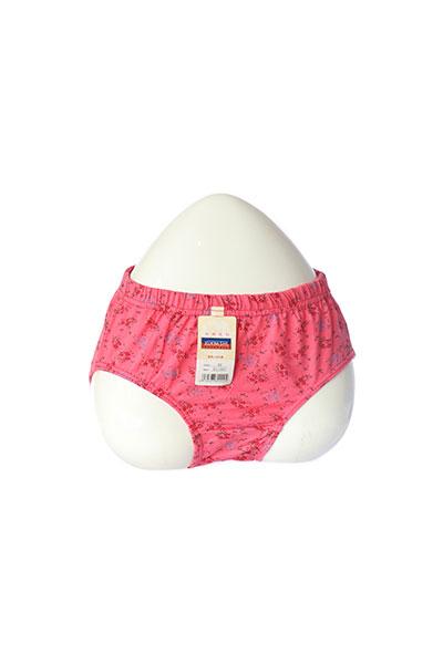 Dark Pink Printed Cotton Panty