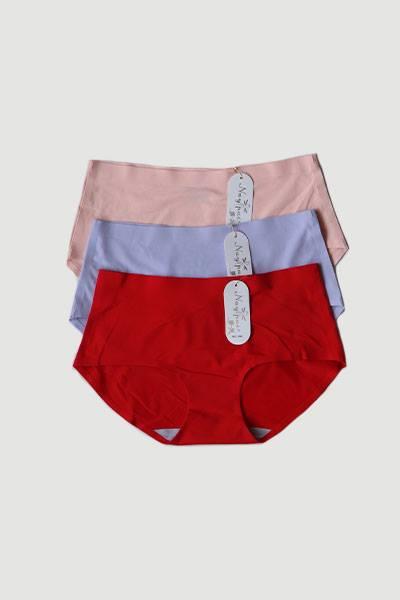 Pack of 3 Seamless Plain Cotton Panties Combo2