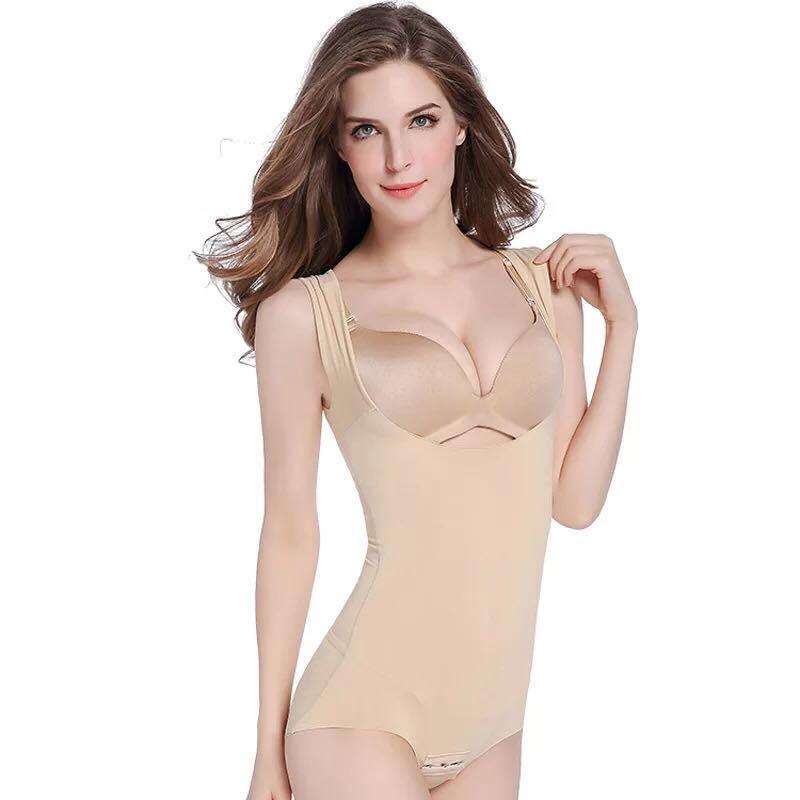 Skin Tummy Control Seamless Body Shaper Tank Top Bodysuit
