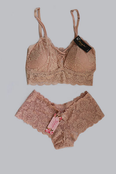 Nude Bralette And Panty Set