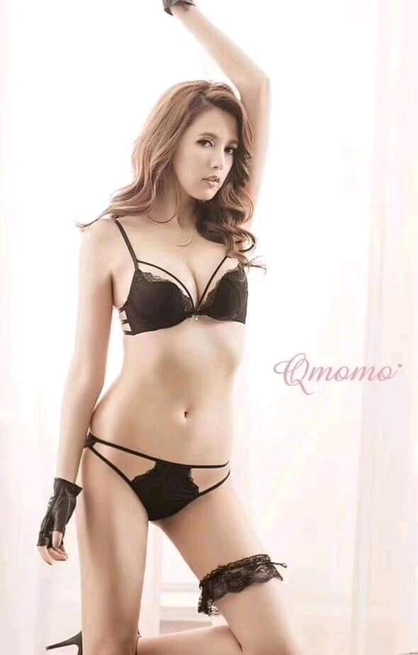 Black Stylish Net Bra Panty Set