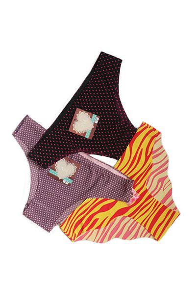 Pack Of 3 Printed Low Cut Seamless Panties Combo 2