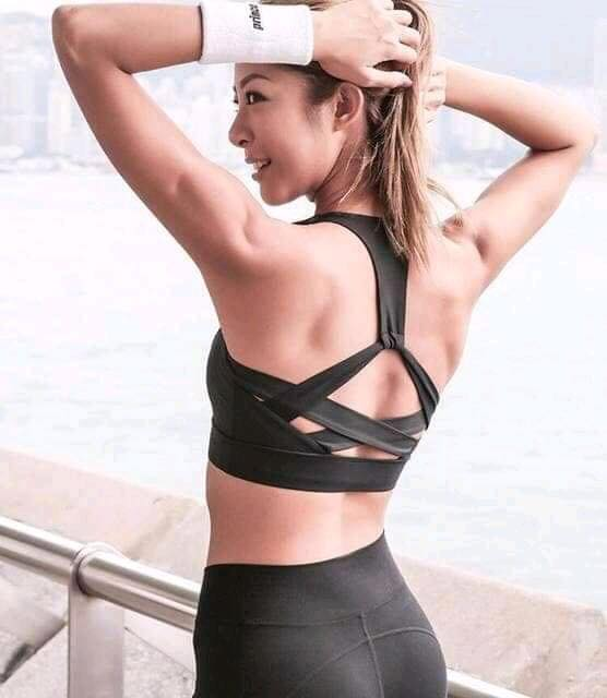 Black Back Crisscross Stylish Sports Bra