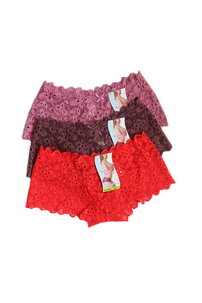 Pack Of 3 Floral V-shaped Lace Panties Combo 1