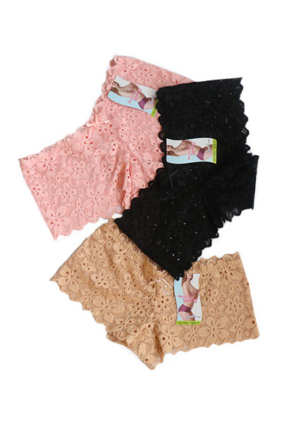 Pack Of 3 Floral V-shaped Lace Panties Combo 3