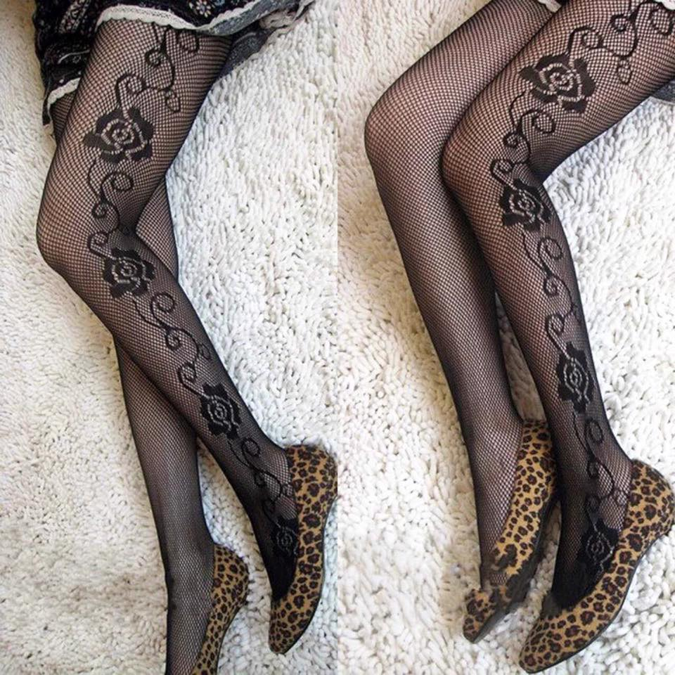 Transparent Floral Design Stocking