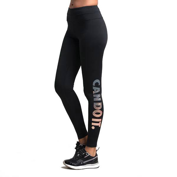 High Waist Stretch Workout Legging With Letter Printing