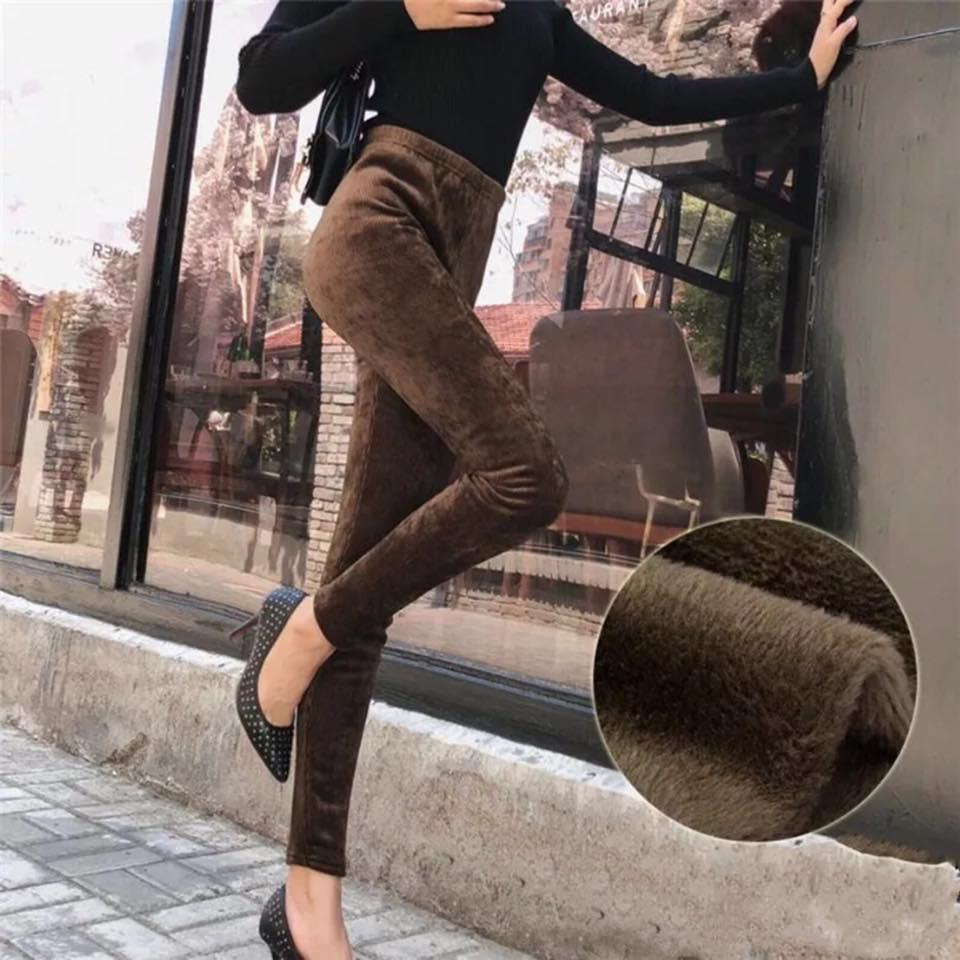 Fully Fur Inside Velvet Trouser